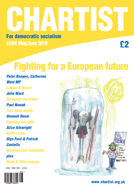 "The cover of Chartist issue #298: ""Fighting for a European future""."